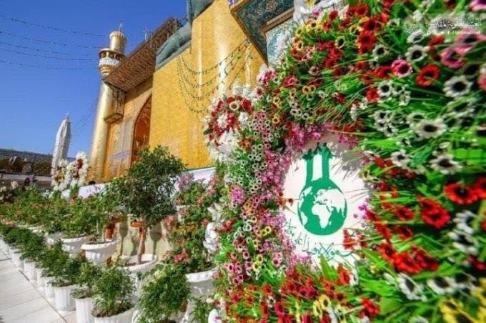 بالصور.. جموع المؤمنين تحتفل بذكرى عيد الغدير في النجف الاشرف