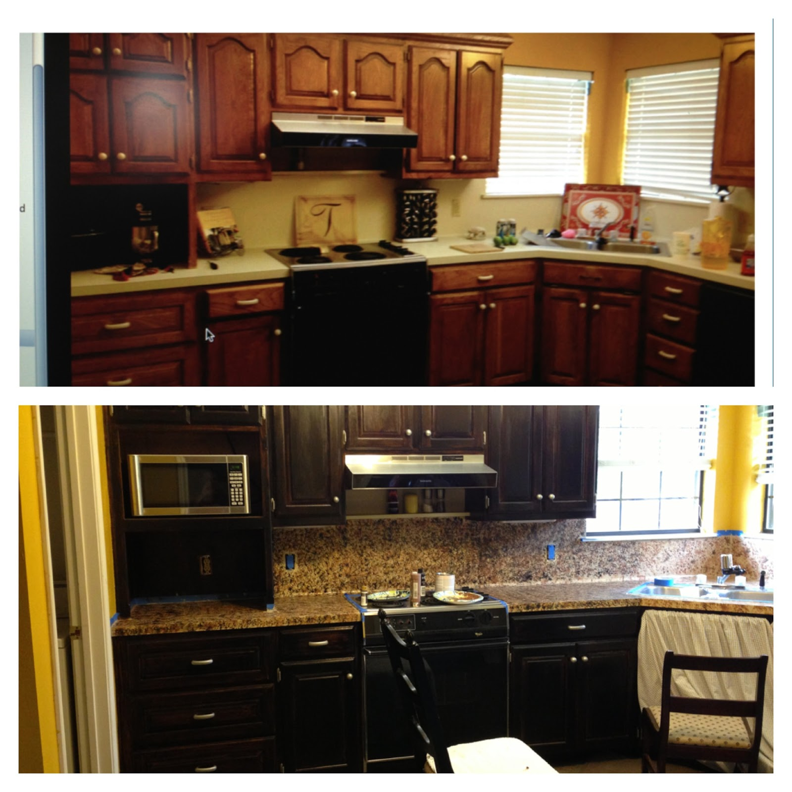 staining kitchen cabinets before and after splash of southern charm 9380