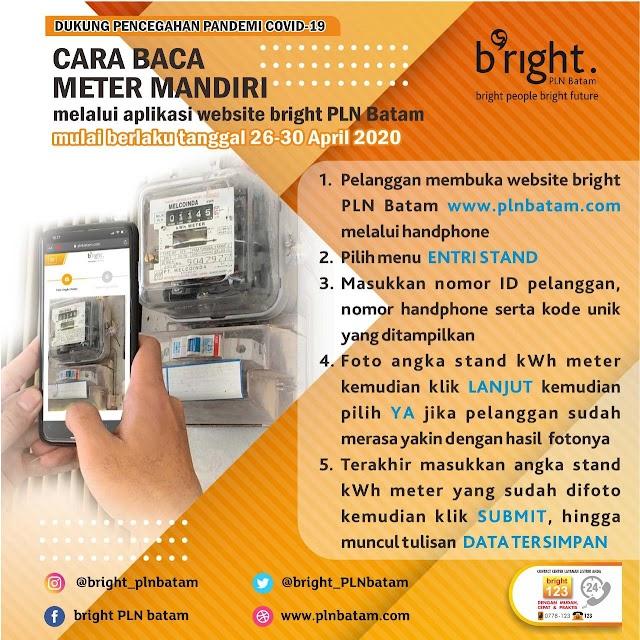 Lawan Covid-19, bright PLN Batam Beri Solusi Pencatatan kWh Meter Untuk Pelanggan
