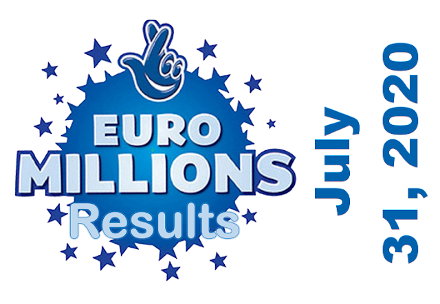 EuroMillions Results for Friday, July 31, 2020