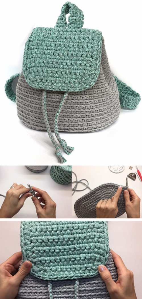 Crochet Rucksack / Backpack - Tutorial