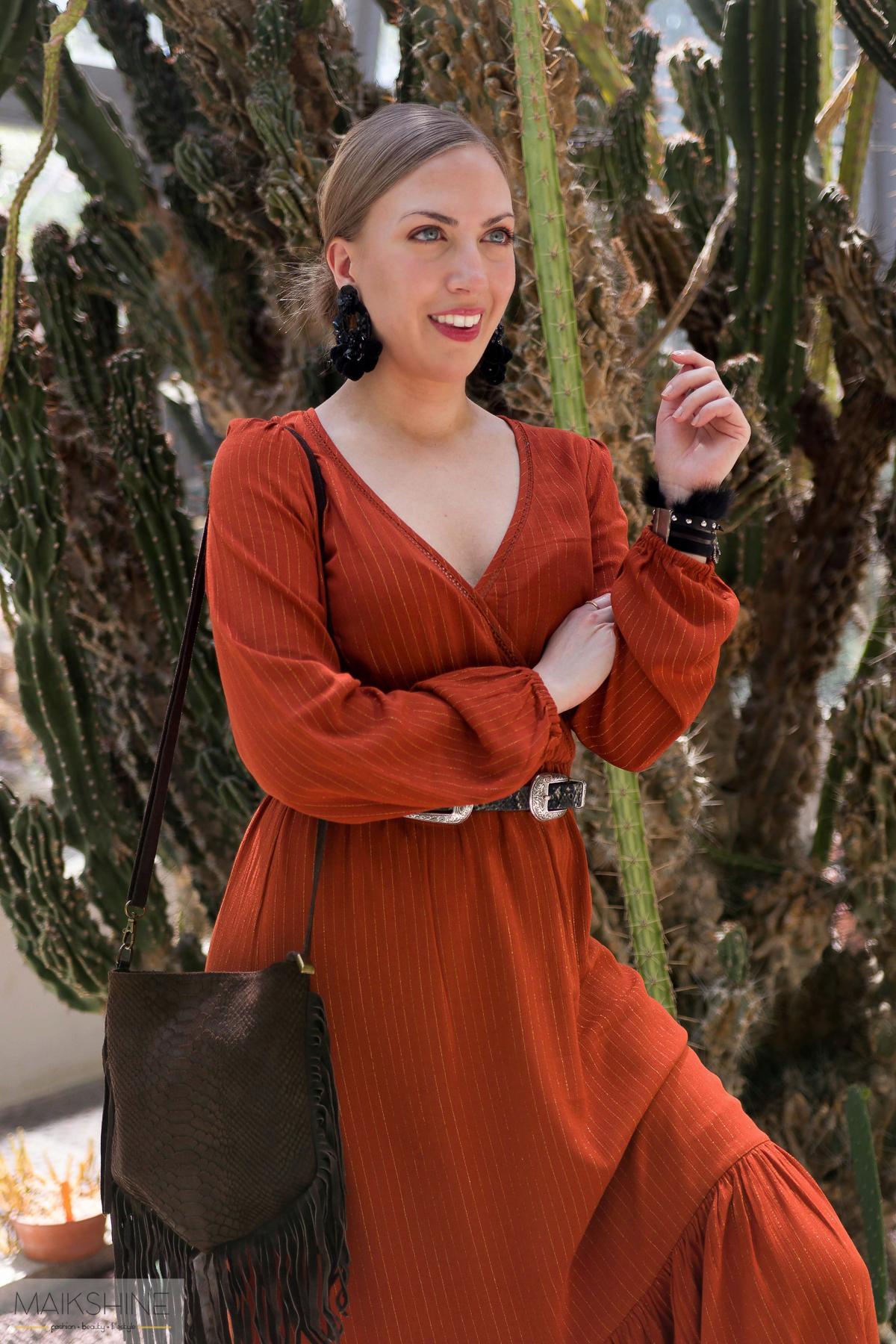 outfit vestido boho