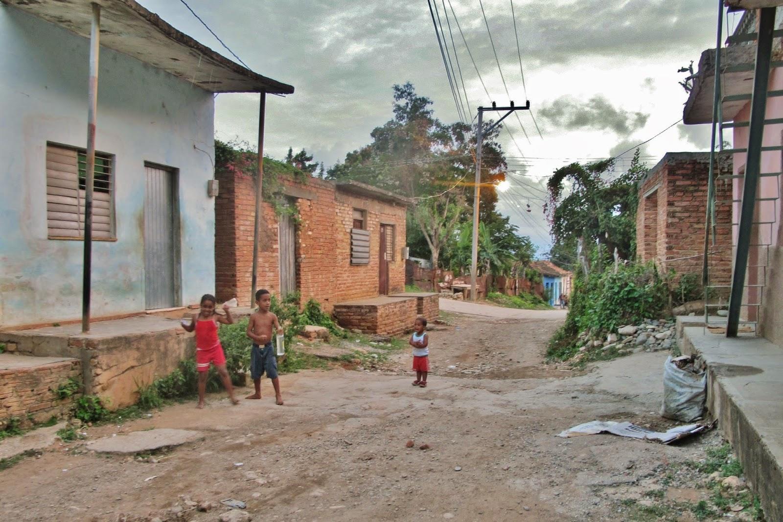 Ruas mais pobres de Trinidad, em Cuba.