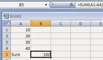 Notes on Microsoft Excel Functions