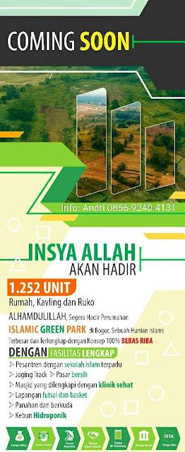 Islamic Green Park Perumahan Syariah dijual Sentul Bogor