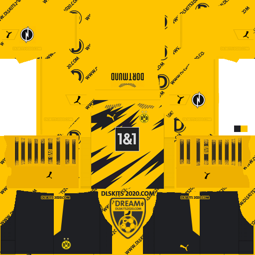 Borussia Dortmund Kits 2020-2021 Adidas For Dream League Soccer 2019 (Home)