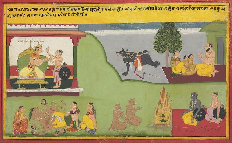 Scenes from Ramayana - Rajput Painting, Mewar, Circa 1640