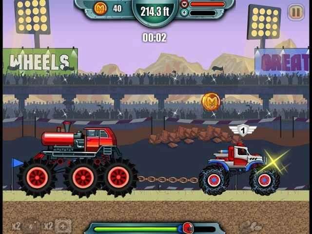 لعبة Monsters Wheels 2