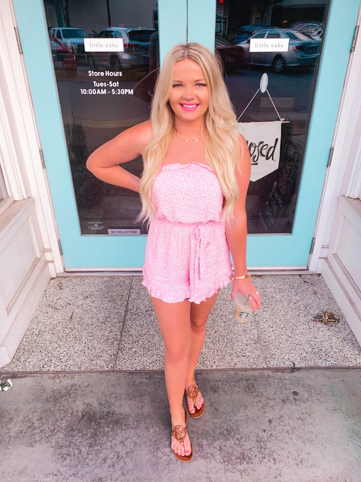 vici dolls laffy taffy pink polka dot ruffle romper