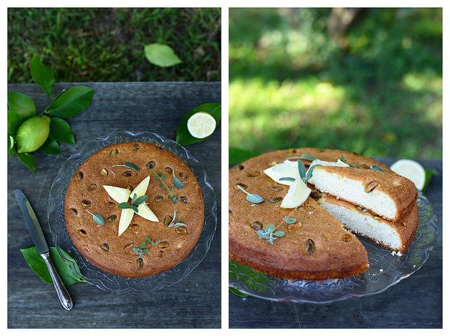 Gâteau au citron et aux blancs d'oeuf