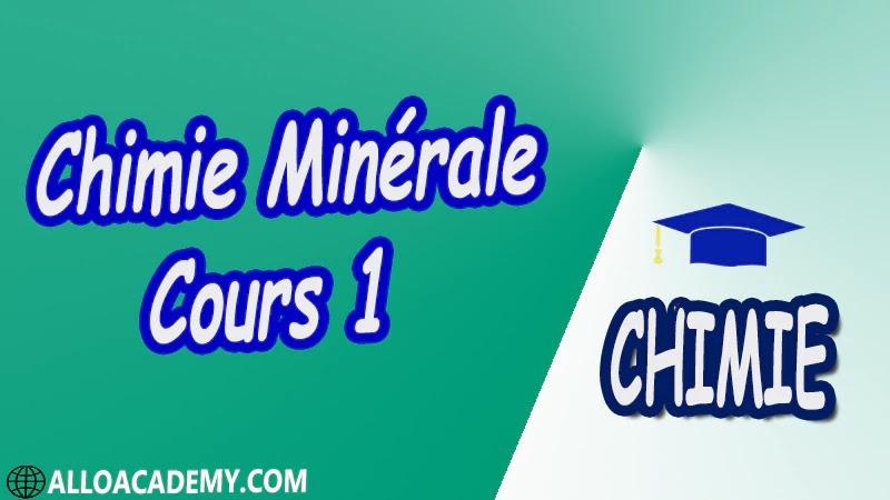 Chimie Minérale - Cours 1 pdf