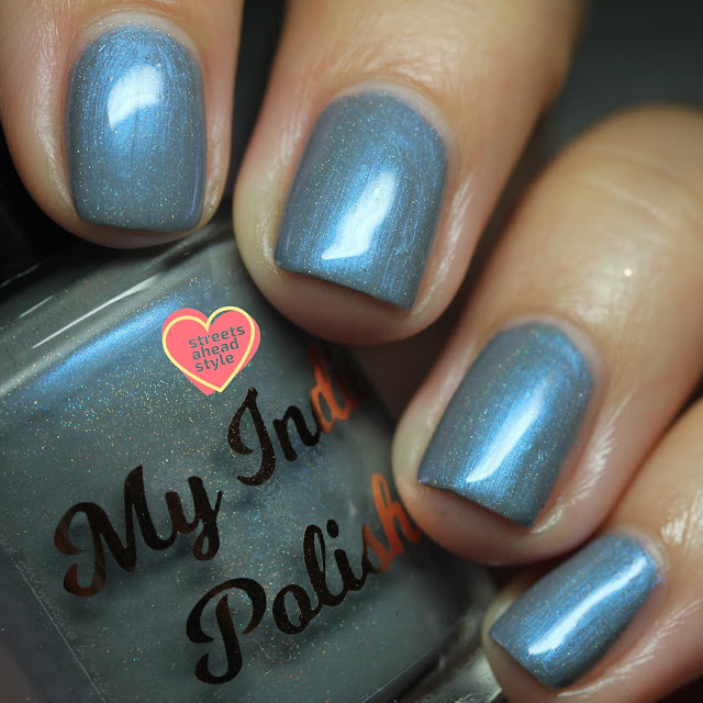 My Indie Polish Lip's Blue Eyes swatch by Streets Ahead Style
