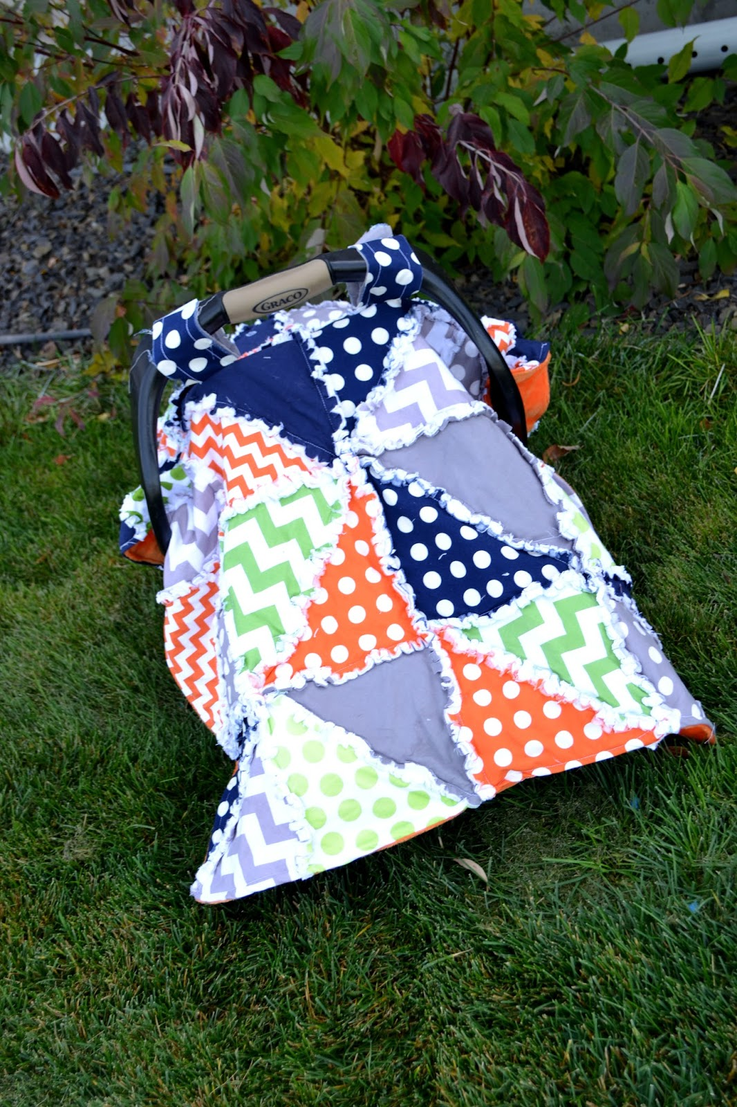 Triangle Dash Rag Quilt Pattern for Car Seat Tent