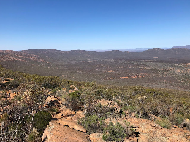 Photo of view from Mount Ohlssen Bagge across Wilpena Pound in South Australia