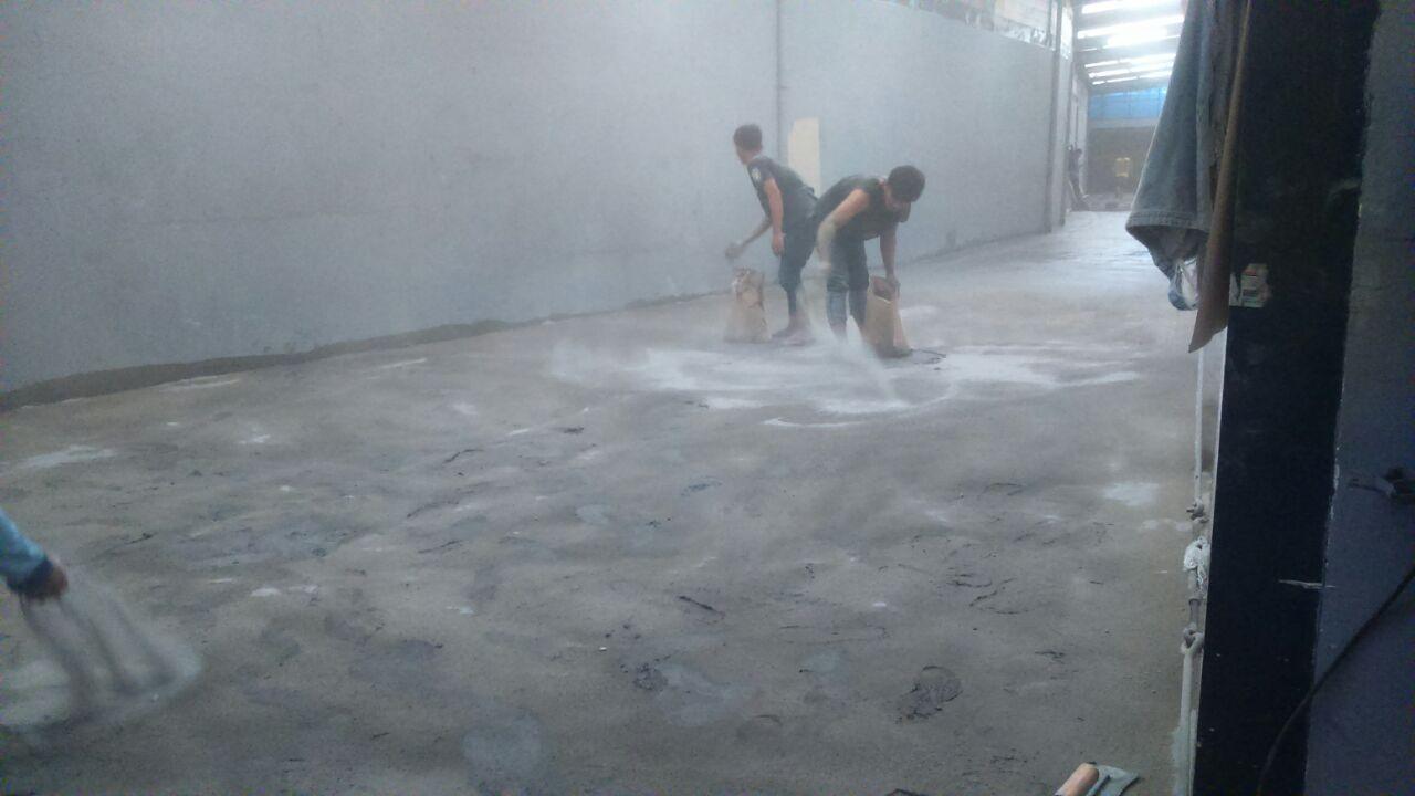 Pengerjaan Finishing Floor Hardener Bandung