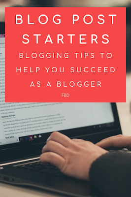 Blogging Help - Blog post starters