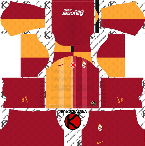 buy popular 4dd64 1b893 Galatasaray S.K. 2019/2020 Kit - Dream League Soccer Kits ...