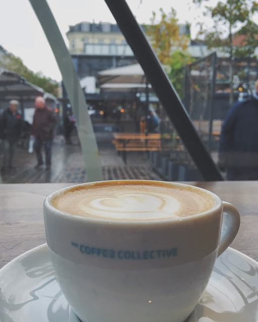 Flat White at The Coffee Collective, Torvehallern, Copenhagen