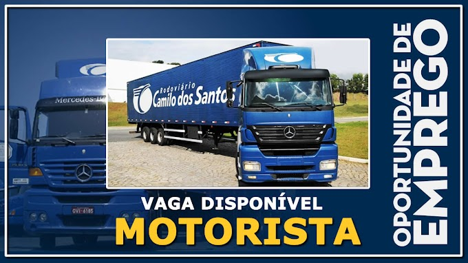 Rodoviario Camilo dos Santos abre vagas para Motorista