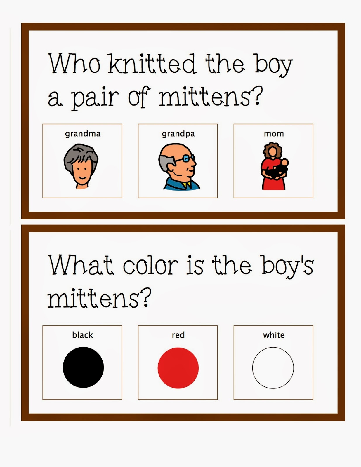 The Mitten Sequencing Worksheets