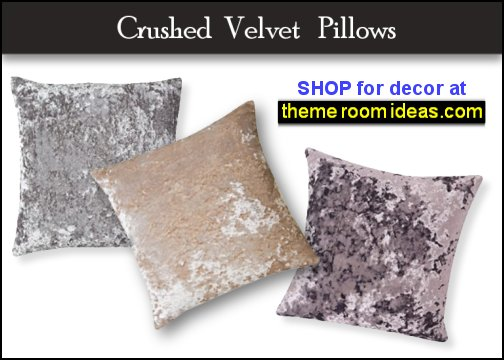 Crushed Velvet Silver Pillows luxe glam home decor lux glam decor