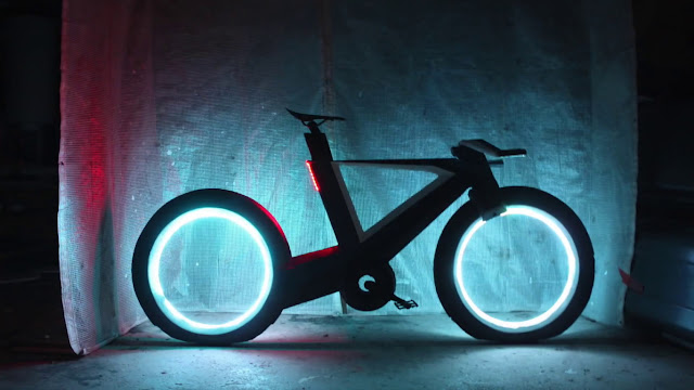 This spectacular bike with futuristic design is the closest thing we'll motorbike Tron