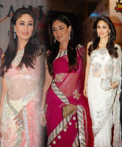 Kareena Kapoor In Latest Designer Saree Photos, Actress