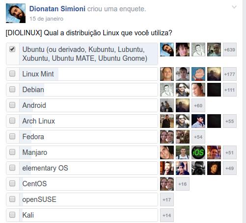 Distribuições Linux mais utilizadas pelos leitores do Diolinux