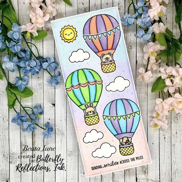 Sunny Studio Stamps: Balloon Rides Customer Card by Beata June