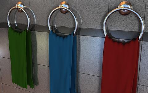 towel 3d model free