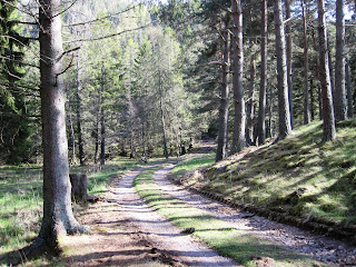 Walking towards the Pass of Ballater, Deeside