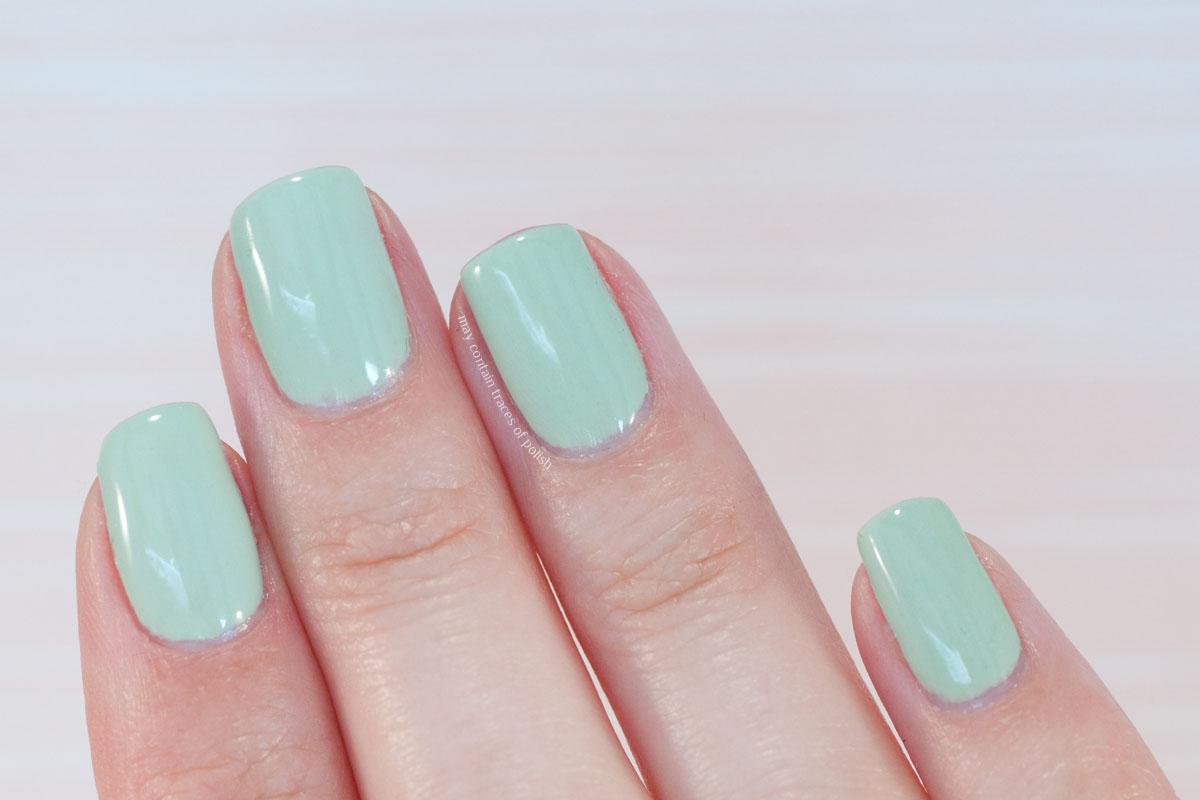 Pink Gellac Love Affair Collection swatches - 323 Gentle Jade