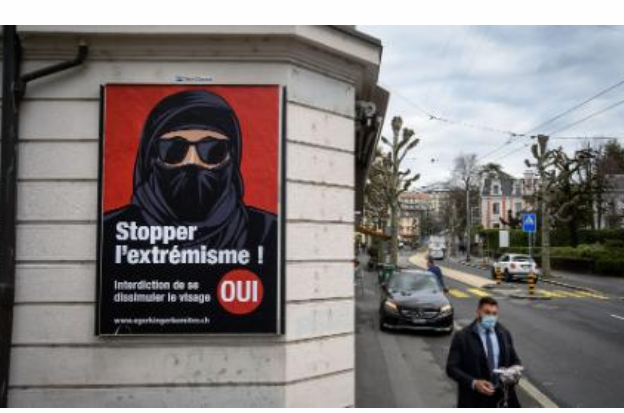 Switzerland votes to ban face covering in public places