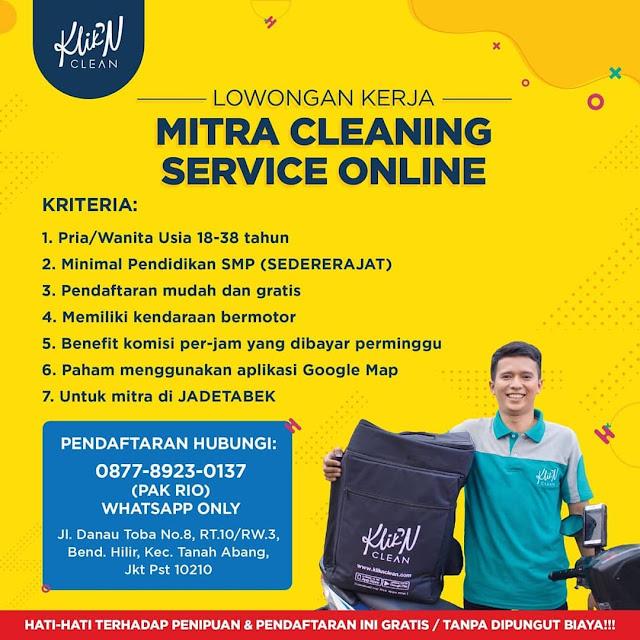 Cuma Lulusan Smp Yuk Daftar Jadi Mitra Cleaning Service Online Klik N Clean Serangid