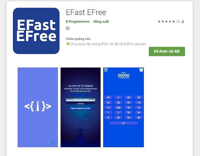 Kiếm ETH Ethereum miễn phí với EFast EFree