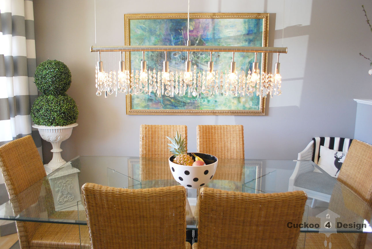 Replica Of Expensive Linear Crystal Chandelier My Dining Room