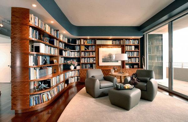 Hogares Frescos: 37 Ideas para la Biblioteca de diseño con un efecto ...