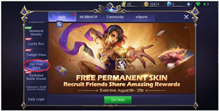 Cara Mendapatkan Skin Lapu Lapu secara gratis di Mobile Legend