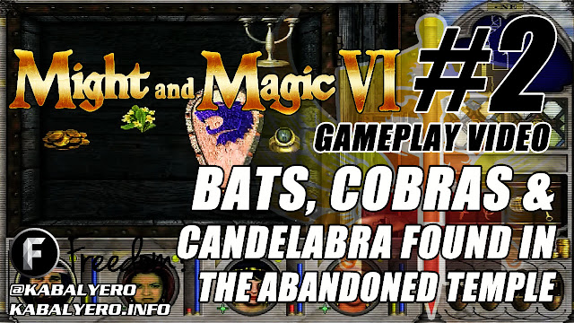 Might And Magic 6 Gameplay #2 ★ Bats, Cobras & Candelabra Found In The Abandoned Temple