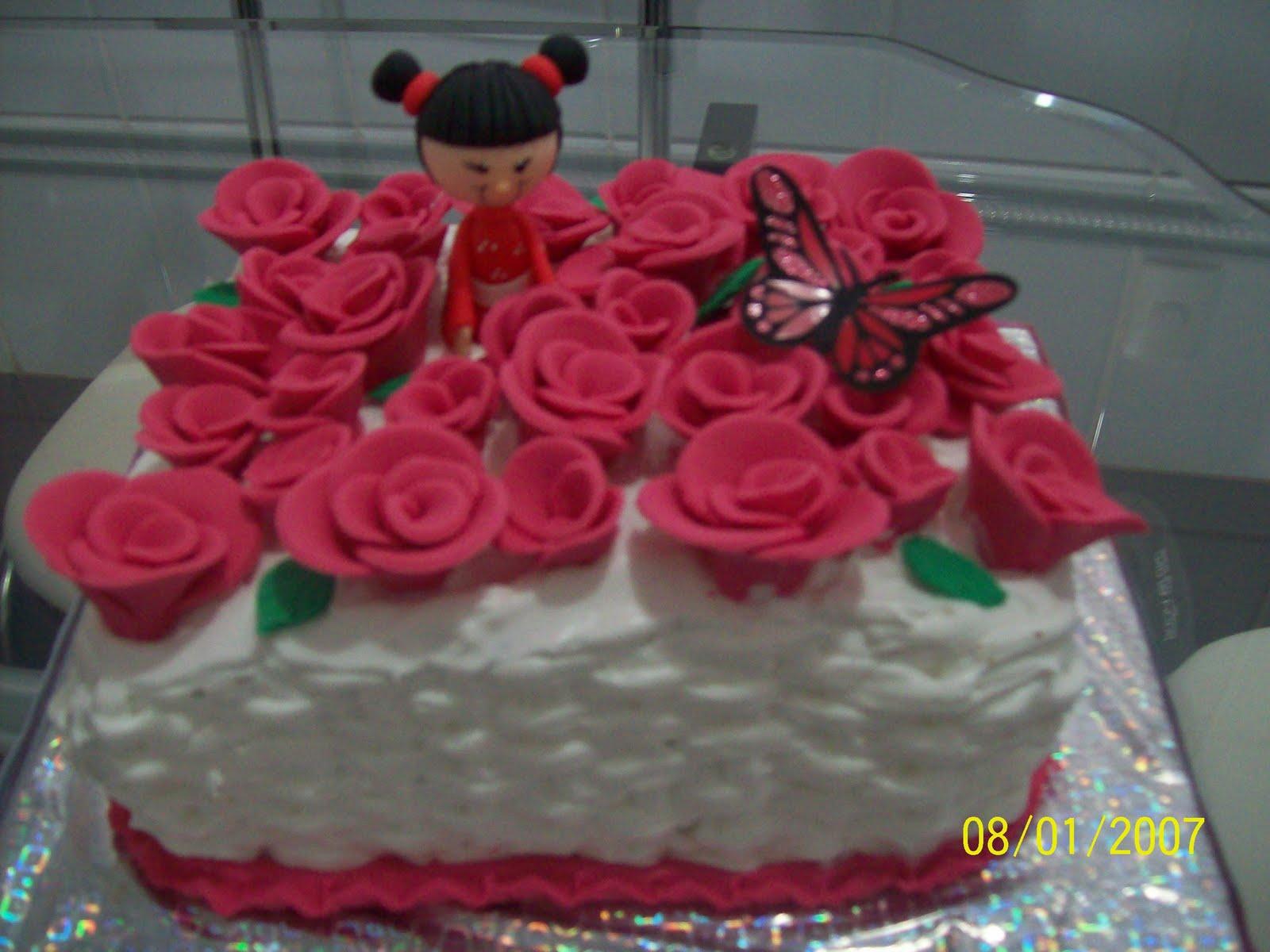 Mesa De Feliz Aniversario Bolo Para Sobrinha Imagens: Maria Gelza Bolos E Doces: Gueixa, Rosinhas E Borboleta