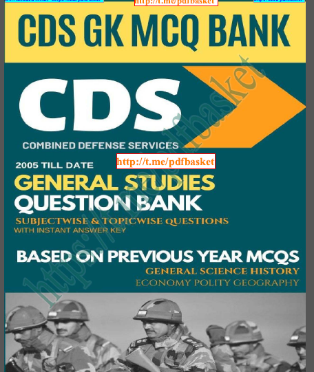 CDS General Studies Question Bank : For UPSC Exam PDF Book