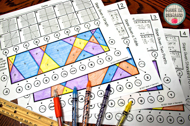 Slope Stained Glass Activity