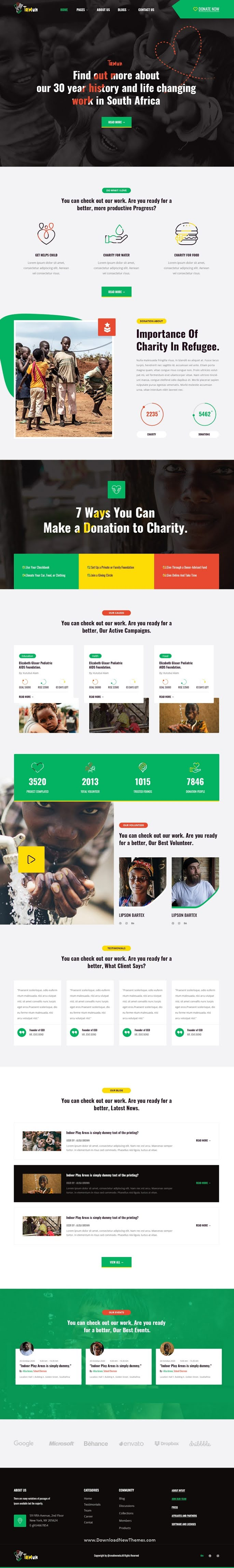 Non Profit Charity PSD Template