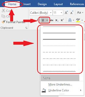 Cara Membuat Garis Menggunakan Underline