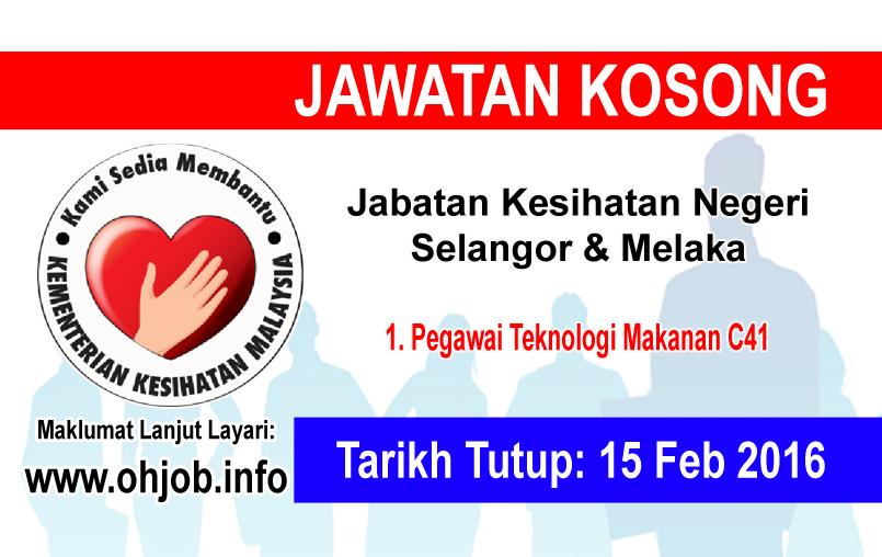 Jawatan Kerja Kosong Jabatan Kesihatan Negeri Selangor & Melaka logo www.ohjob.info februari 2016