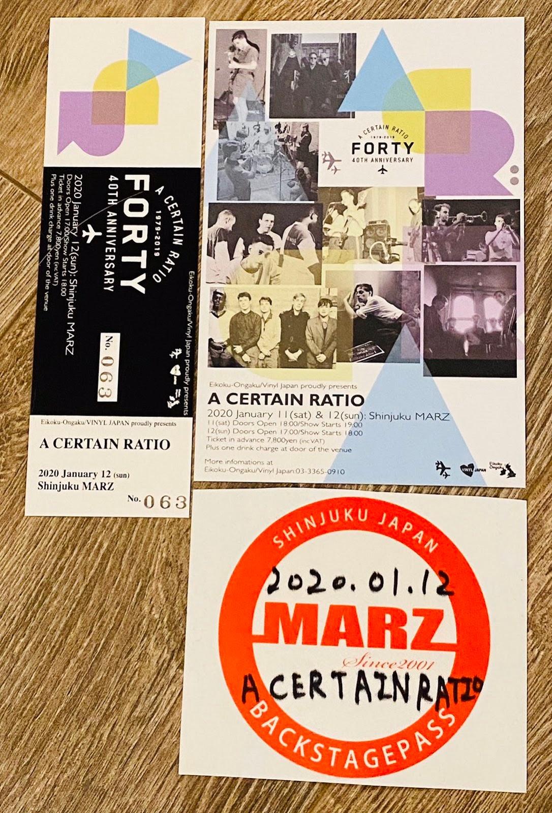 12 January 2020, Marz, Tokyo, Japan - ACR Gigography