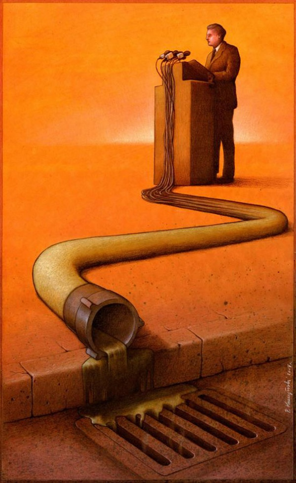 satirical illustrations by pawel kuczynski