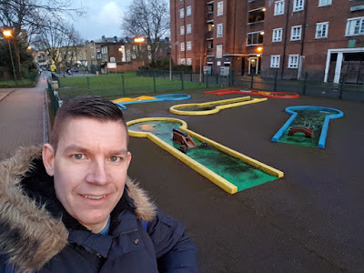 Clarence Way Crazy Golf course in Camden, London
