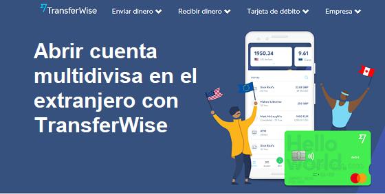 Cómo abrir una cuenta multidivisa en el extranjero con Transferwise