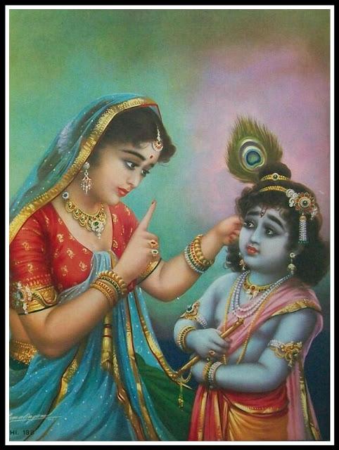 krishna with yashoda maiya images